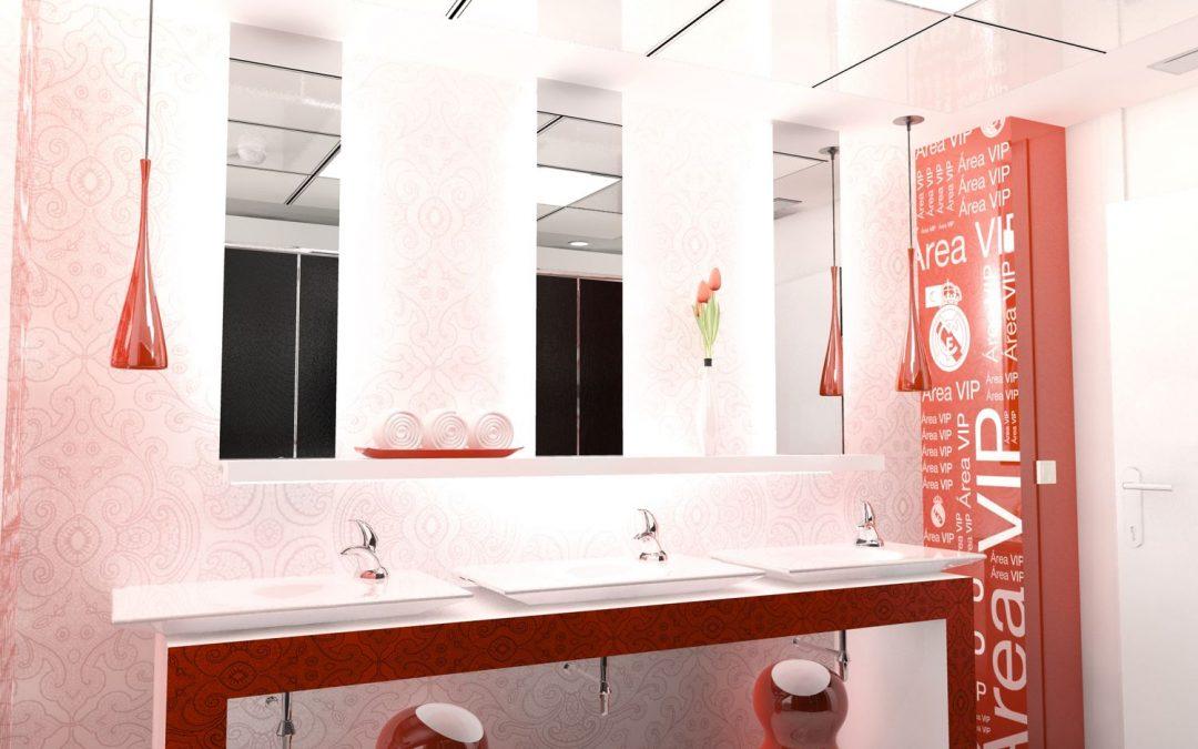 Remodelación aseos Estadio Santiago Bernabéu